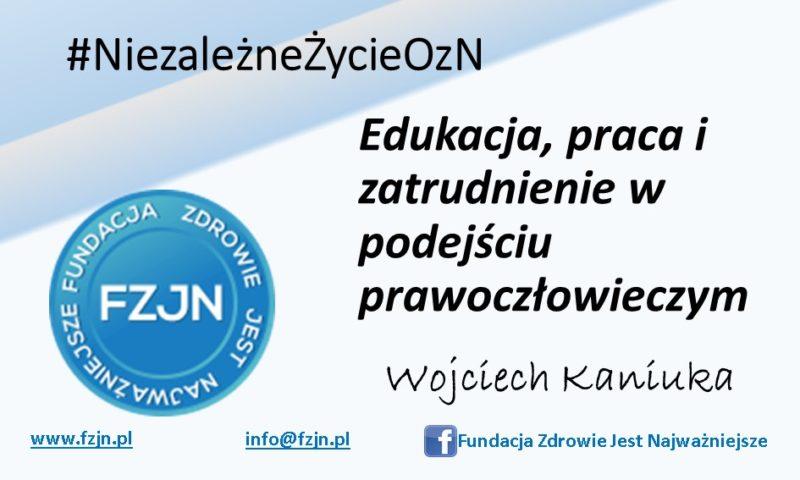 Edukacja, praca izatrudnienie wpodejściu prawoczłowieczym