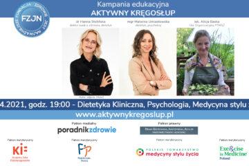 Pierwszy webinar za nami – #AktywnyKregoslup